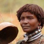 Native Ethiopian woman wearing native jewellery