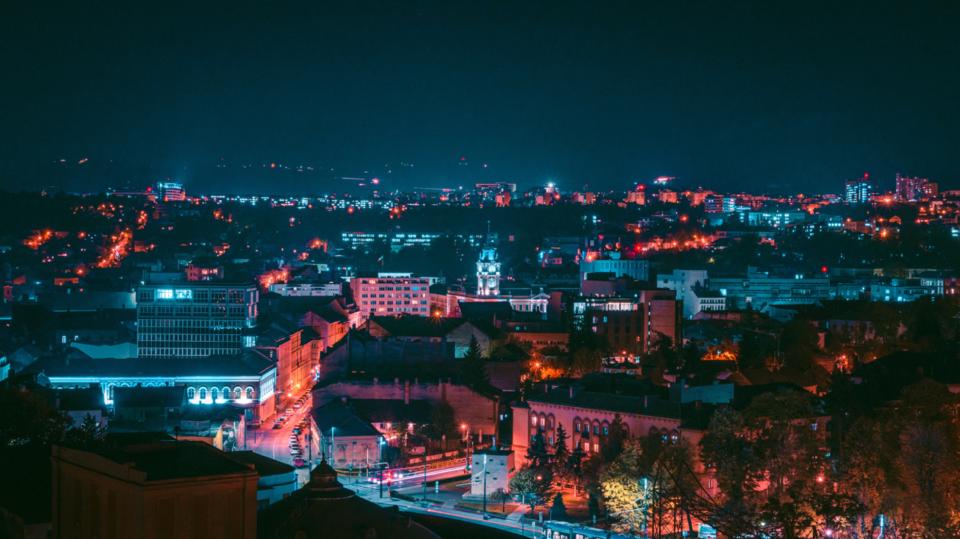 Cluj-Napoca at night