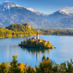 Panoramic view of lake bled