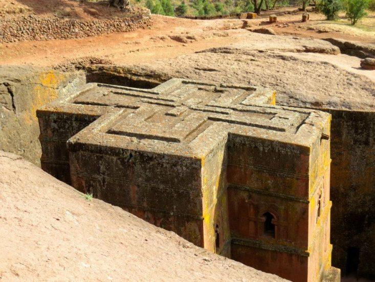 Rock-hewn church in Ethiopia