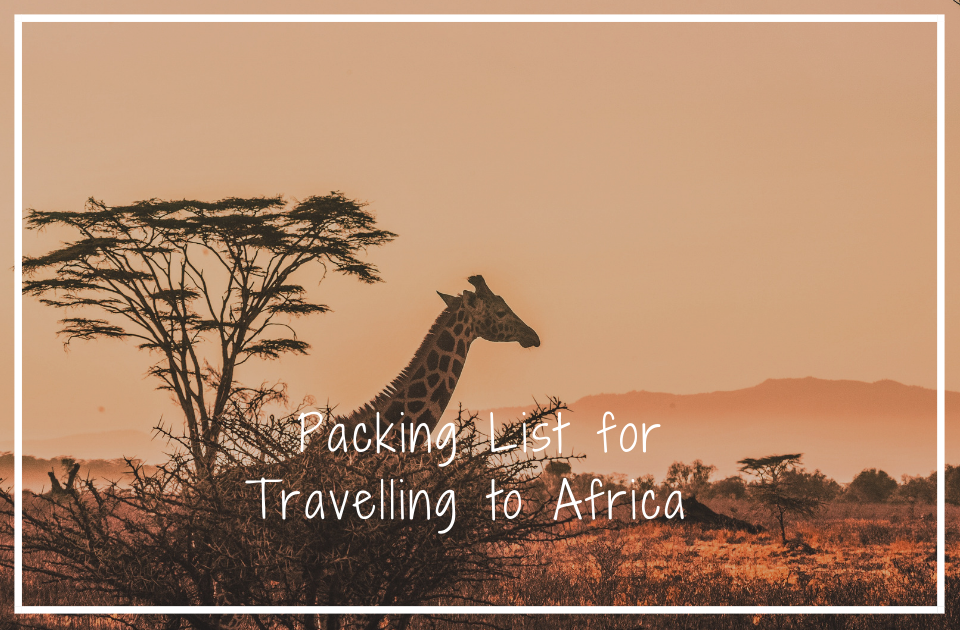 Packing list for africa