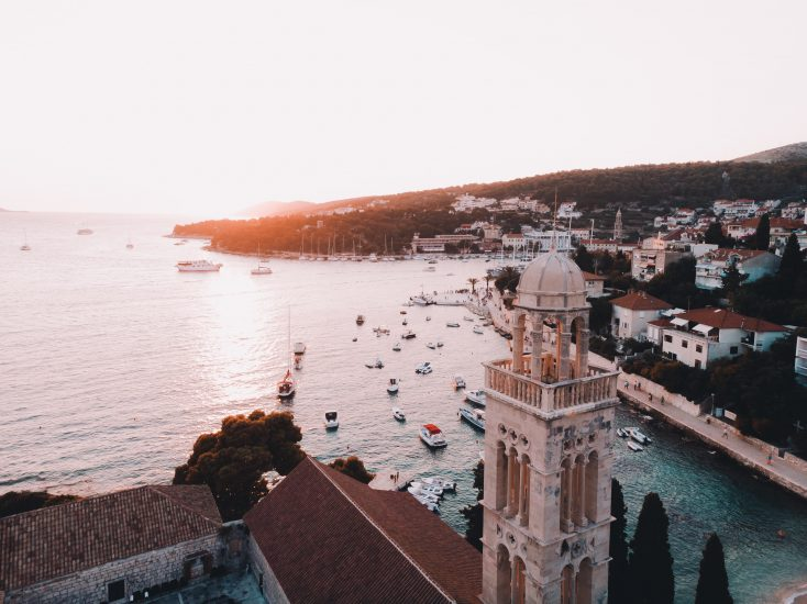 Croatian city next to the sea