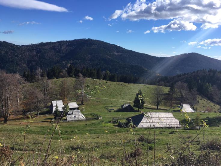 Shepherds hut in Slovenia
