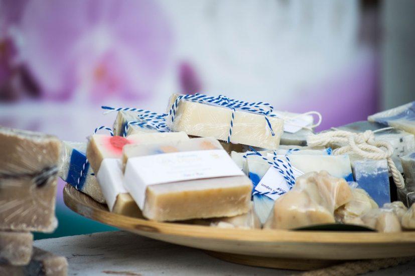 Multiple bars of soap