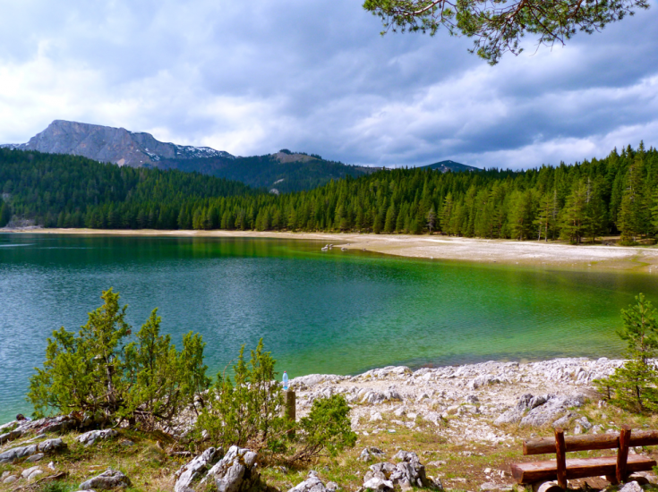 Lake in Montenegro's national park