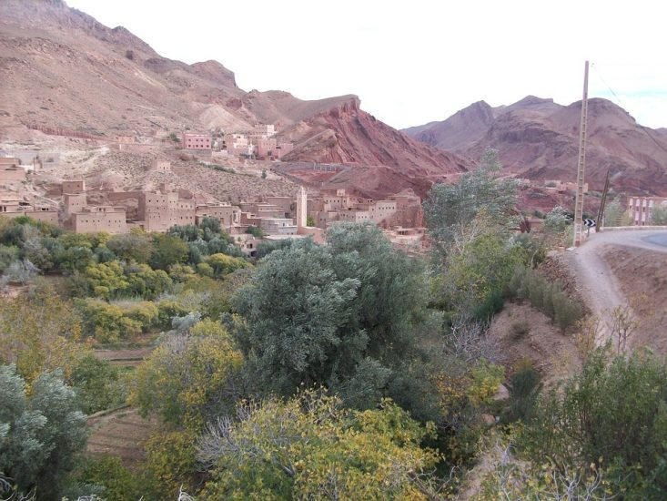 A town in the Dades Valley in Morocco