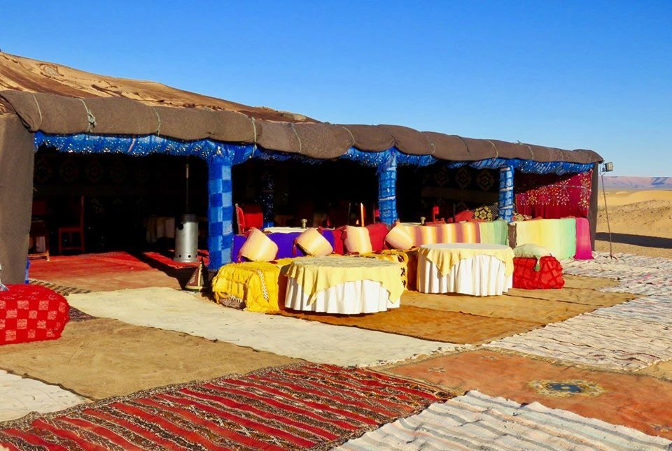 The Berber Camp of Sahara Desert