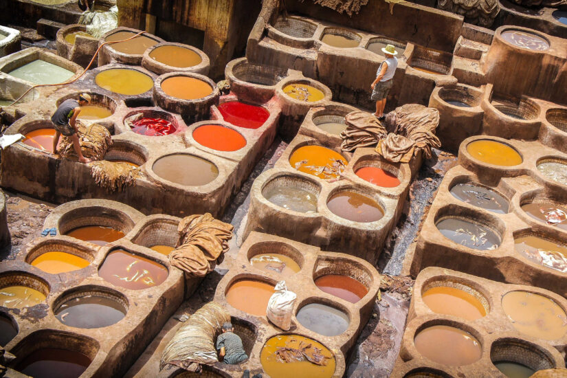 Fez leather taneries